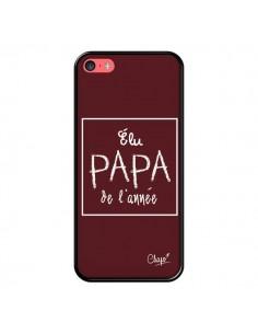 Coque Elu Papa de l'Année Rouge Bordeaux pour iPhone 5C - Chapo