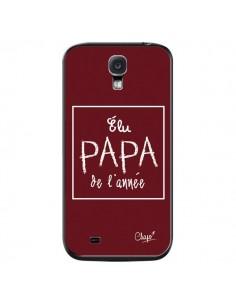 Coque Elu Papa de l'Année Rouge Bordeaux pour Samsung Galaxy S4 - Chapo