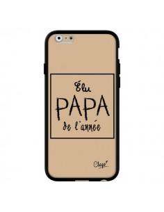 Coque iPhone 6 et 6S Elu Papa de l'Année Beige - Chapo