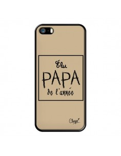 Coque Elu Papa de l'Année Beige pour iPhone 5/5S et SE - Chapo