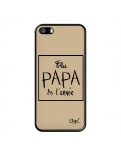 Coque iPhone 5/5S et SE Elu Papa de l'Année Beige - Chapo