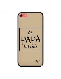Coque Elu Papa de l'Année Beige pour iPhone 5C - Chapo