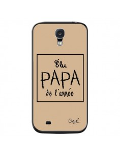 Coque Elu Papa de l'Année Beige pour Samsung Galaxy S4 - Chapo