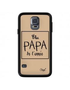 Coque Elu Papa de l'Année Beige pour Samsung Galaxy S5 - Chapo