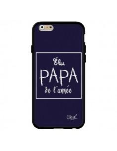 Coque Elu Papa de l'Année Bleu Marine pour iPhone 6 et 6S - Chapo