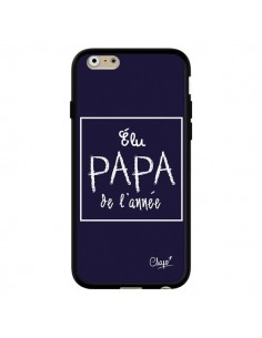 Coque iPhone 6 et 6S Elu Papa de l'Année Bleu Marine - Chapo