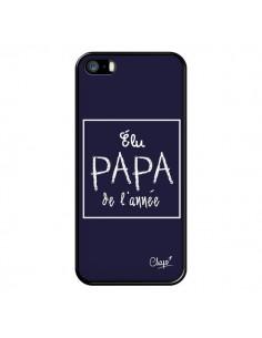 Coque Elu Papa de l'Année Bleu Marine pour iPhone 5/5S et SE - Chapo
