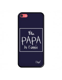 Coque Elu Papa de l'Année Bleu Marine pour iPhone 5C - Chapo