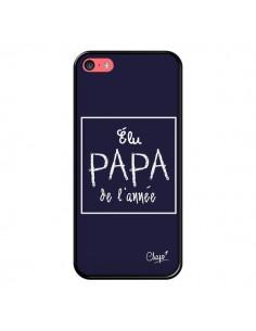 Coque iPhone 5C Elu Papa de l'Année Bleu Marine - Chapo