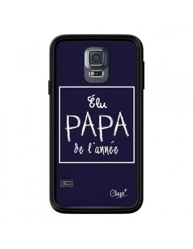 Coque Elu Papa de l'Année Bleu Marine pour Samsung Galaxy S5 - Chapo
