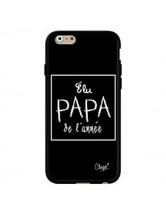 Coque Elu Papa de l'Année Noir pour iPhone 6 et 6S - Chapo