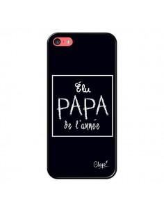 Coque Elu Papa de l'Année Noir pour iPhone 5C - Chapo