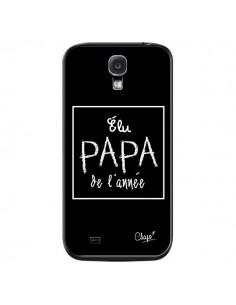 Coque Elu Papa de l'Année Noir pour Samsung Galaxy S4 - Chapo