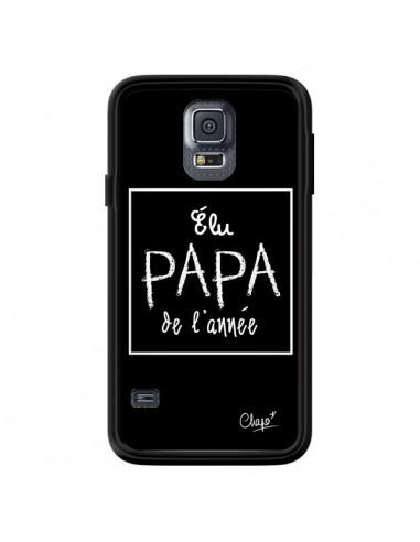 Coque Elu Papa de l'Année Noir pour Samsung Galaxy S5 - Chapo