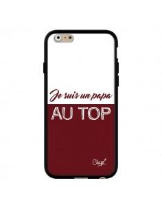 Coque iPhone 6 et 6S Je suis un Papa au Top Rouge Bordeaux - Chapo