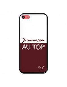 Coque Je suis un Papa au Top Rouge Bordeaux pour iPhone 5C - Chapo