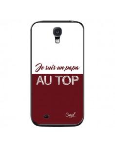 Coque Je suis un Papa au Top Rouge Bordeaux pour Samsung Galaxy S4 - Chapo