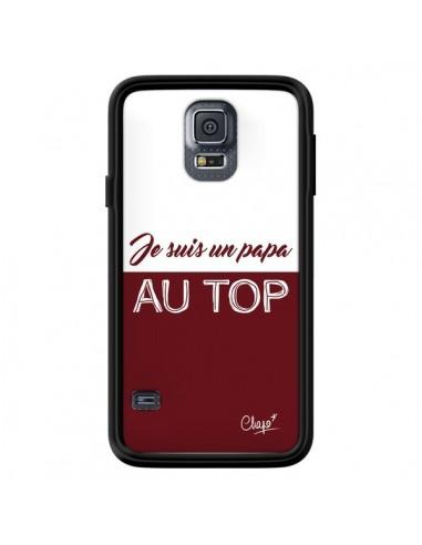 Coque Je suis un Papa au Top Rouge Bordeaux pour Samsung Galaxy S5 - Chapo