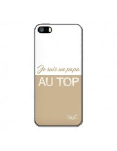 Coque iPhone 5/5S et SE Je suis un Papa au Top Beige - Chapo