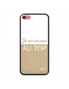 Coque iPhone 5C Je suis un Papa au Top Beige - Chapo