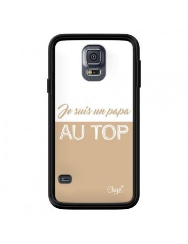 Coque Je suis un Papa au Top Beige pour Samsung Galaxy S5 - Chapo