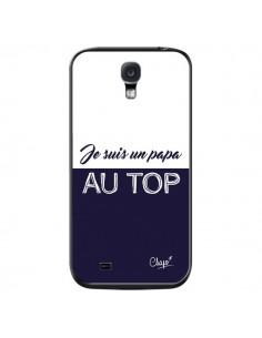 Coque Je suis un Papa au Top Bleu Marine pour Samsung Galaxy S4 - Chapo
