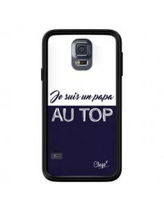 Coque Je suis un Papa au Top Bleu Marine pour Samsung Galaxy S5 - Chapo