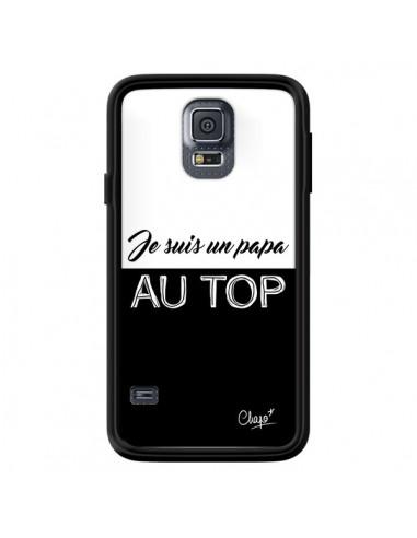 Coque Je suis un Papa au Top Noir pour Samsung Galaxy S5 - Chapo