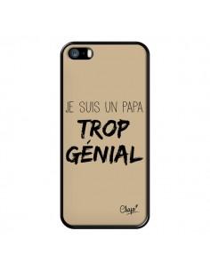 Coque Je suis un Papa trop Génial Beige pour iPhone 5/5S et SE - Chapo