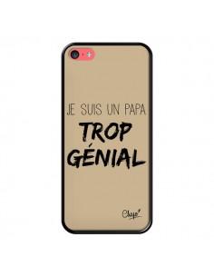 Coque iPhone 5C Je suis un Papa trop Génial Beige - Chapo
