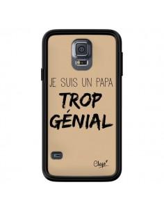 Coque Je suis un Papa trop Génial Beige pour Samsung Galaxy S5 - Chapo