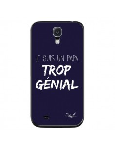 Coque Je suis un Papa trop Génial Bleu Marine pour Samsung Galaxy S4 - Chapo