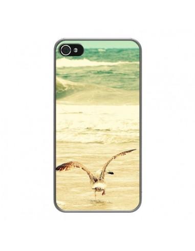 Coque iPhone 4 et 4S Mouette Mer Ocean Sable Plage Paysage - R Delean