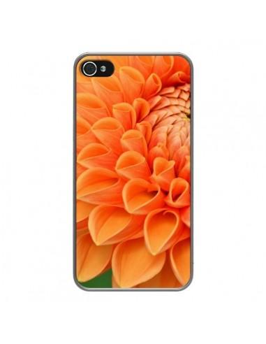 Coque iPhone 4 et 4S Fleurs oranges flower - R Delean