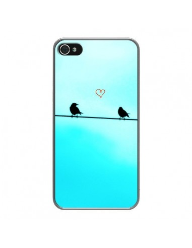 Coque iPhone 4 et 4S Oiseaux Birds Amour Love - R Delean