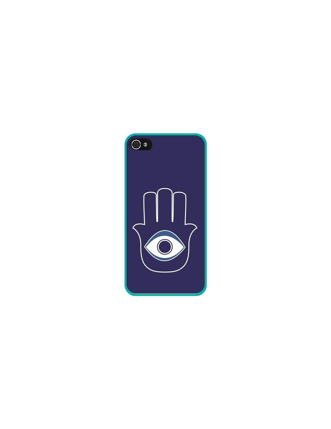coque main de fatma oeil bleu pour iphone 4 et 4s laetitia. Black Bedroom Furniture Sets. Home Design Ideas