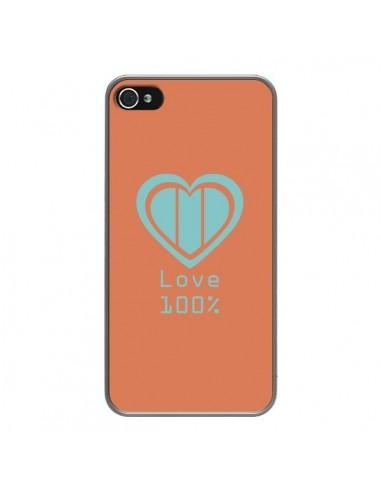 Coque iPhone 4 et 4S Love 100% Coeur Amour - Julien Martinez