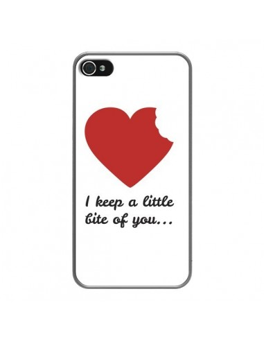 Coque iPhone 4 et 4S I Keep a little bite of you Coeur Love Amour - Julien Martinez