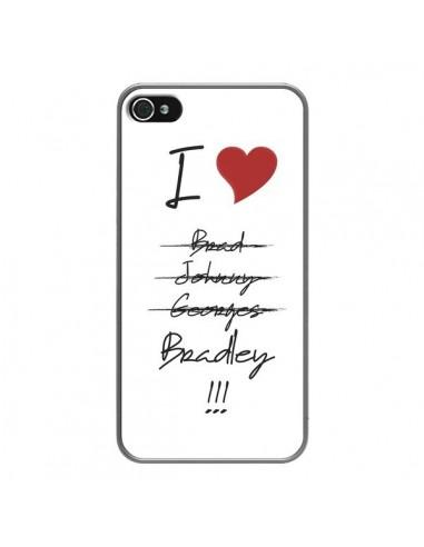 Coque iPhone 4 et 4S I love Bradley Coeur Amour - Julien Martinez