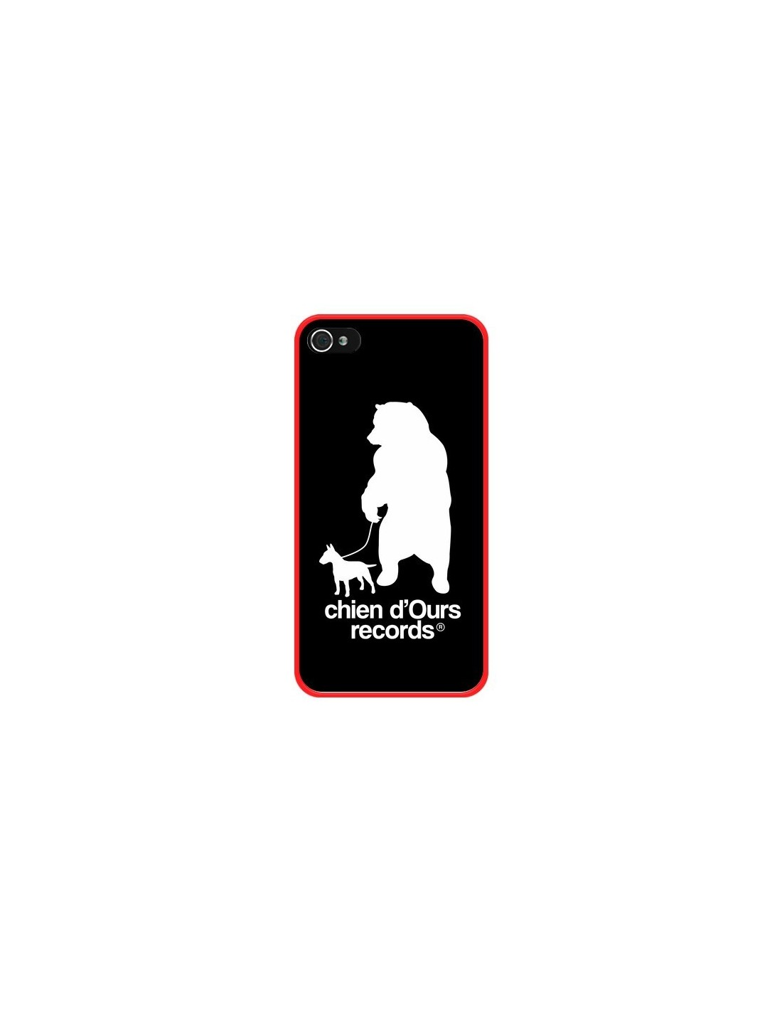coque chien d 39 ours records musique pour iphone 4 et 4s bertrand carriere. Black Bedroom Furniture Sets. Home Design Ideas