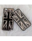 Coque iPhone 4 et 4S Drapeau Anglais en Miroir Noir Gravure Dorée - Lito & Lita