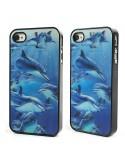 Coque iPhone 4 et 4S Dauphins en 3D