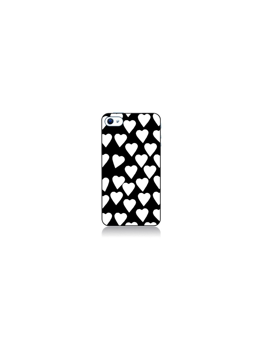 coque coeur blanc pour iphone 4 et 4s. Black Bedroom Furniture Sets. Home Design Ideas