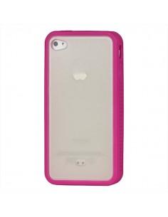 Coque style Bumper avec arrière transparent pour iPhone 4/4S