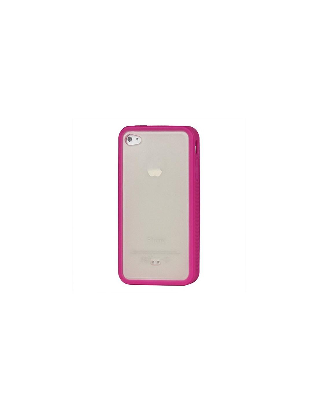 coque iphone 4 et 4s style bumper avec arriere transparent