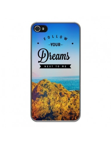 Coque iPhone 4 et 4S Follow your dreams Suis tes rêves - Eleaxart