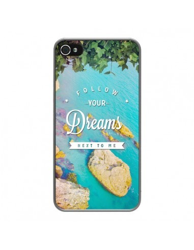 Coque iPhone 4 et 4S Follow your dreams Suis tes rêves Islands - Eleaxart