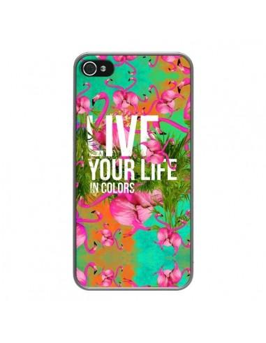 Coque iPhone 4 et 4S Live your Life - Eleaxart