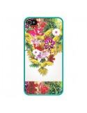 Coque iPhone 4 et 4S Parrot Floral Perroquet Fleurs - Eleaxart
