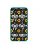 Coque iPhone 4 et 4S Elephant Tournesol - Eleaxart
